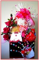 """LOVE MESSAGES""   Gift Basket Spoil your loved one with this gorgeous Gift Basket!"