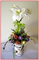 """HAPPY EASTER""  Candy/Silk Floral Arrangement"