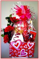 """DANCING HEARTS""  Gift Basket  Send her a beautiful expression of your love with our gorgeous Dancing Hearts themed gift box!"