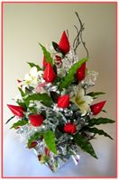 """RED ROSEBUDS"" Candy Bouquet"
