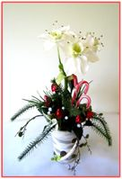 """WHITE NARCISSUS"" Floral/Candy Arrangement"