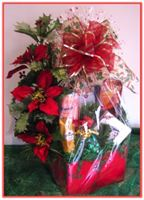 """HOLIDAY ELEGANCE"" Gift Basket Send your holiday greetings to the whole family with this elegant Christmas design!"