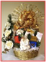 """GOLDEN CHRISTMAS"" Gift Basket"