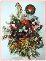"""CHRISTMAS FLORAL"" Candy Bouquet"