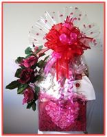 """ROMANTIC ROSES""   Gift Basket Romance or just friends either, sure to catch her eye and warm her heart!"