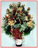 """HAPPY NEW YEAR"" Candy Bouquet Topper As spirited as the bubbles in champagne!"