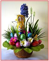 """EASTER MOMENTS""  Candy/Silk Floral Arrangement"