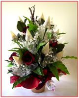 """WHITE ROSEBUDS"" Candy Bouquet"