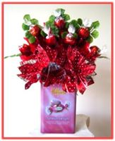 """RED SENTIMENT"" Candy Bouquet Topper"