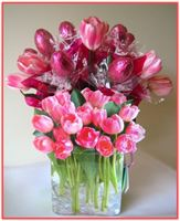 """PINK TULIPS""  Candy Bouquet"