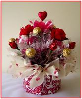 """CHOCOLATE BLOSSOMS""  Candy Bouquet"
