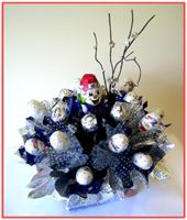 """SNOWMAN"" Candy Bouquet - Top view"