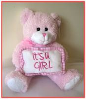 """MY FIRST TEDDY BEAR"" Teddy Bear Baby w/pillow  A perfect gift for a new arrival!"