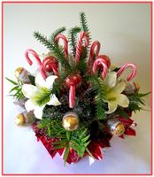 """CANDY CANE BOUQUET"" Candy Bouquet - Top view"