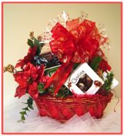 """RED POINSETTIA"" Gift Baskets"