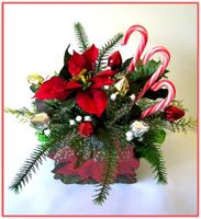 """RED POINSETTIA""  Candy Bouquet - Top view"