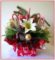 """CANDY CANE BOUQUET"" Candy Bouquet"