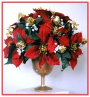 """RED POINSETTIA & CHOCOLATE BUDS"" Candy Bouquet"