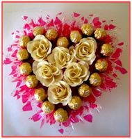 """MY HEART FOR YOU...."" Chocolate & Floral Arrangement"