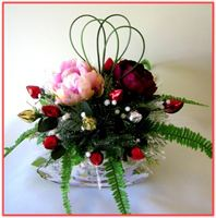 """PEONIES""   Candy/Floral Arrangement"