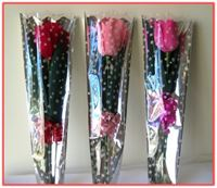 """TULIP & CHOCOLATE"" Party Favor  Hand - crafted Crepe Tulip Flower"