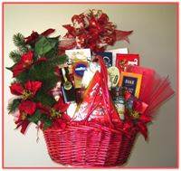 """CHRISTMAS WISHES"" Gift Basket Send seasons greetings, extraordinary taste and your best wishes to their door!"