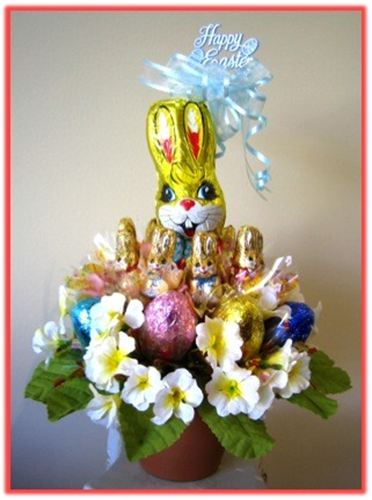 Js luxury baskets easter easter gift for him candy bouquet negle Choice Image