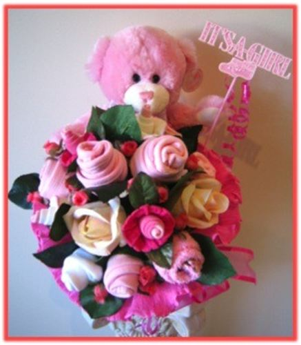 Js luxury baskets baby victoria baby baby clothes bouquet negle Image collections